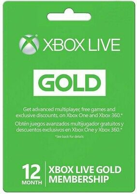 Microsoft 12 Month Xbox Live Gold Membership (VPN NEEDED, READ DESCRIPTION)
