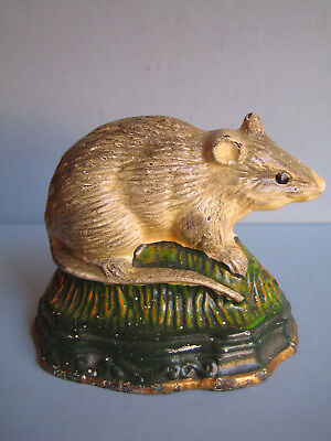Türstopper  Maus  Gusseisen  Antik   Door Stop  Mouse  Souris  Topo  Antique