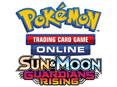 10x Pokemon TCG Online Sun & Moon Guardians Rising Code Card for TCGO Booster