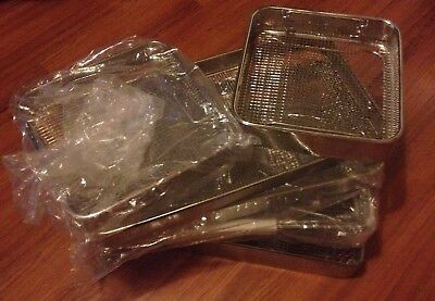 Brand New Dental Surgical Perforated Mesh Sterilisation Trays X 6