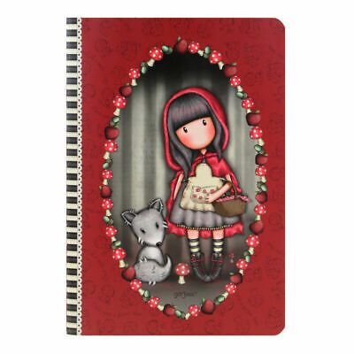 Cahier couverture plastifiée Santoro Gorjuss modèle Little red riding hood