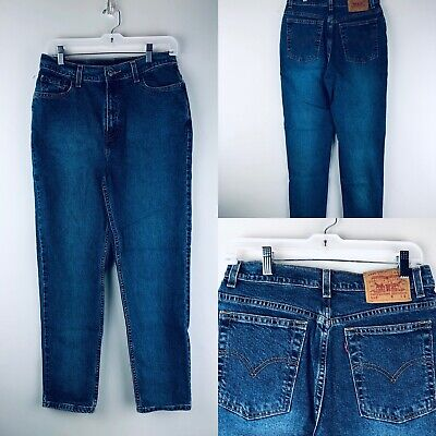 5ba09db854f Vtg Levis 512 Jeans High Waist Slim Fit Tapered Stretch Cotton 10 Misses  Short
