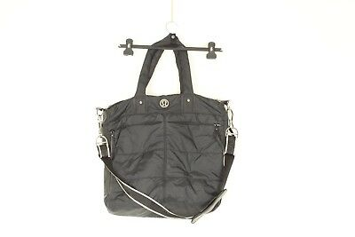 af3ec86f87a LULULEMON FAST IN Flight Bag gray manifesto print large gym yoga bag ...