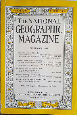 National Geographic Magazine September 1949
