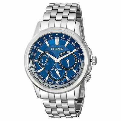 Citizen Eco-Drive Men's BU2021-51L Calendrier Blue Dial Stainless 44mm Watch