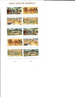 US Stamps Post Office Murals Sheet