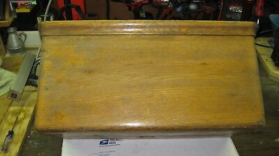Antique Oak Wall Mounted Toilet Tank with Copper Liner