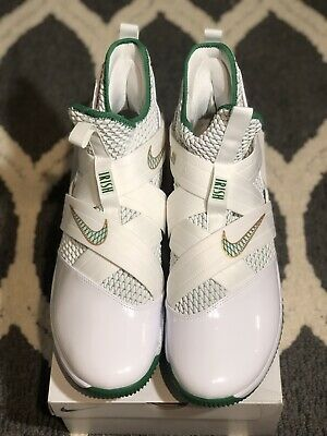 4d773cba81a2 Nike Lebron Soldier XII 12 SVSM Home White Green Gold AO2609-100 Men s 14