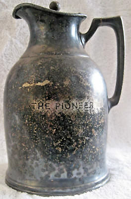 "Antique Stanley Insulating Co. Thermos Pitcher ""The Pioneer"" Great Barrington"