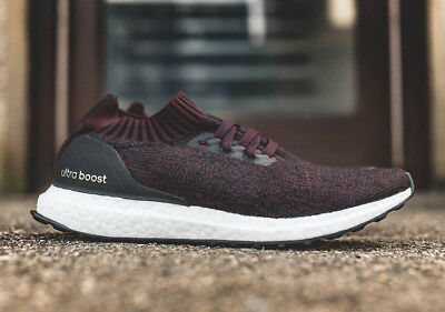 8d0ca6b4f Adidas Ultra Boost Uncaged Burgundy Dark Red Black White PK BY2552 Mens 13  Shoes
