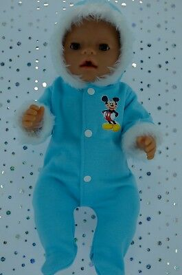 """Play n Wear Boys Dolls Clothes To Fit 17"""" Baby Born BLUE SNOWSUIT"""