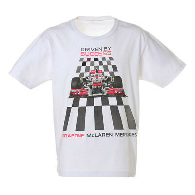 Vodafone McLaren Mercedes Formula F1 Grand Prix Driven By Success T-Shirt NEW