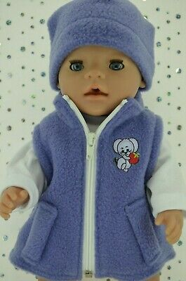 "Play n Wear Doll Clothes To Fit 17"" Baby Born JACARANDA JACKET~BEANIE~TOP"