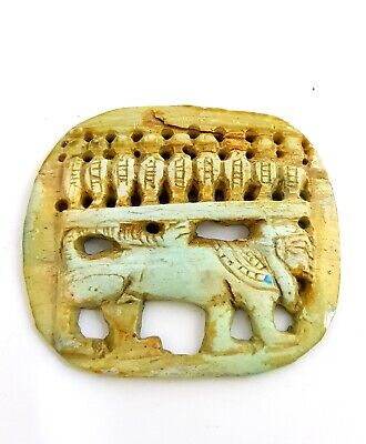 Rare fantastic Faience Egyptian Sekhmet Amulet Ancient Antique Egypt Late Period