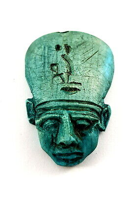 Rare fantastic Faience Egyptian Ancient Antique Carved Egypt art amulet craft
