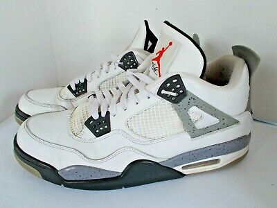 sale retailer bdb1a 6abf6 Nike Air Jordan 4 Retro White Black Cement Grey Men s Size 13 308497-103