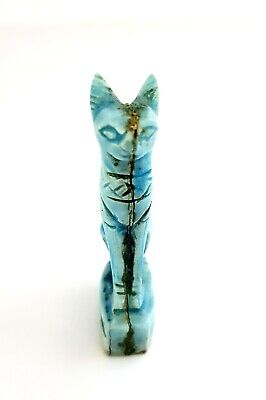 Very Rare Bastet Ancient Amulet Egyptian Cat Antique Faience Stone Egypt Pendant