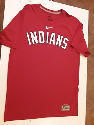 a6ea7a16 Nike Cleveland Indians MLB Authentic Collection Small Dri-Fit Shirt
