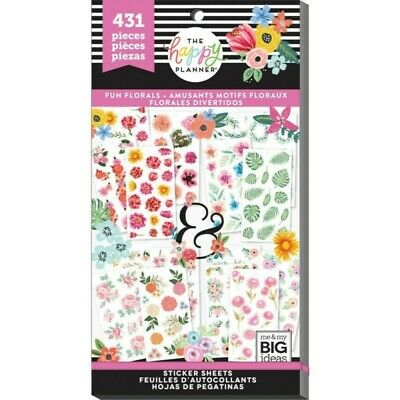 The Happy Planner Sticker Value Pack - Fun Florals 431 stickers in this pack!