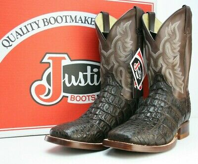 16f747507c4 JUSTIN COWBOY WORK Boots Size 9D Square Toe Pre Owned Broke In Good ...