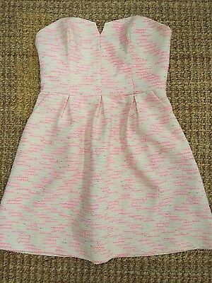 36ca7724a59e Anthropologie Moulinette Soeurs Dress Strapless pink white silver blend  Size 6