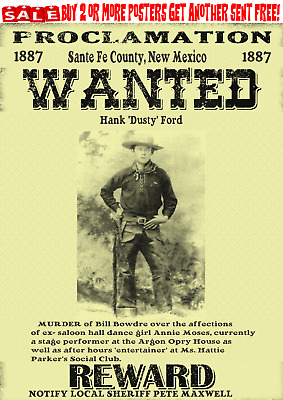 Old West Wanted Posters Outlaw Bank Train Robber Western Doc Ringo Reward Ok
