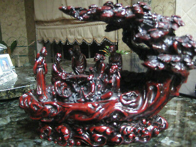 Rosewood Chinese Hand Carved Scene