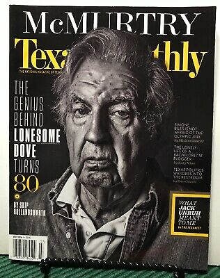 Texas Monthly McMurtry Lonesome Dove Turns 80 Olympic July 2016 FREE SHIPPING JB