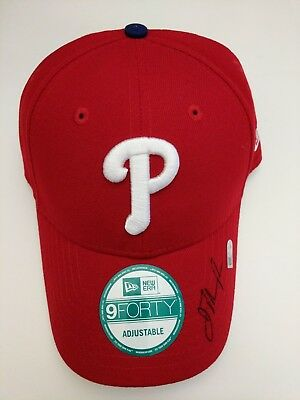 ba70eefff3525 Jake Thompson Autographed Signed Baseball Phillies Cap Hat MLB Authenticated
