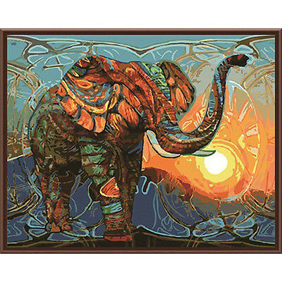Frameless Painting Elephant DIY Painting By Numbers Paint Kits Paint On Canvas