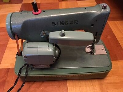 SINGER 285-K Heavy Duty Sewing Machine made in Kilbowie, Scotland not 185