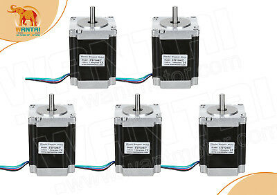 free ship ] 5PCS Nema23stepper motore 270OZ-IN (1.9N / m) 57BYGH627 mini cnc