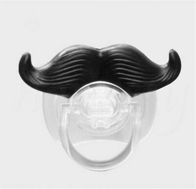 Funny Cute Baby Mustache Dummy Nipple Soother Plug Binky Pacifier
