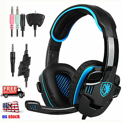 Sades SA708GT 3.5mm Stereo Gaming headsets Headphones with Microphone for PC,...