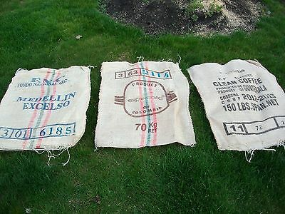 Lot of 3 Burlap Coffee Bean Bags~GunnySack/PotatoRace/Sandbag/Storage/Decorative