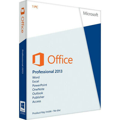 MS Office Professional Plus 2013 - W/scrap, 100% Genuine, Lifetime Key