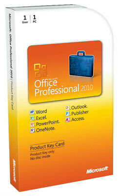 MS Office Professional Plus 2010 - W/scrap, 100% Genuine, Lifetime Key