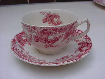 Vintage Johnson Brothers Strawberry Fair Cup And Saucer