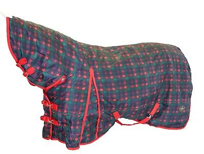 1000D RipStop Horse Rug Combo - Plaid Red/Multi