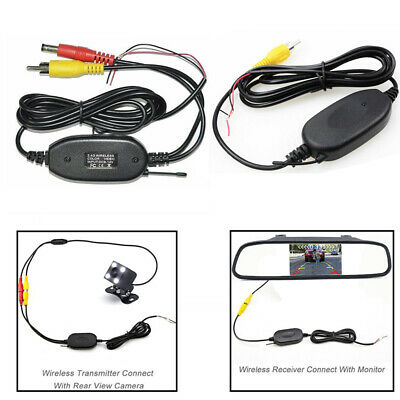 2.4Ghz Wireless Auto Transmitter Receiver Kit Car DVD Rear View Camera RCA Input