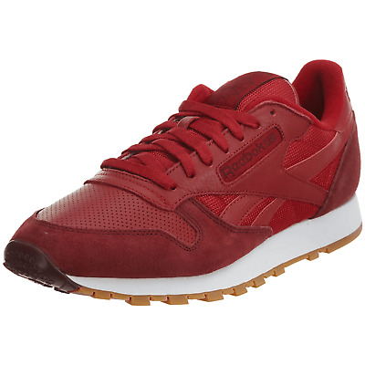 new arrival 3e9af 7357b Reebok Mens Classic Cl Leather Spp Ar3776 Flash Red merlot white