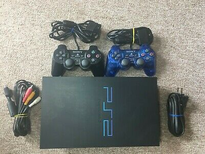 Sony PlayStation 2 PS2 Original Fat Console Bundle With 2 Controllers And Cables