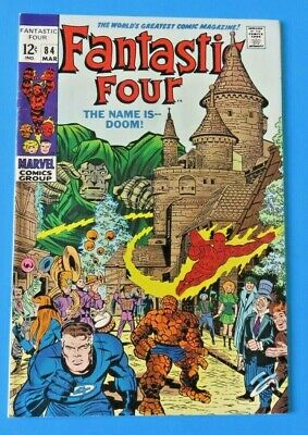 Fantastic Four #84 ~ The Name Is Doom ~ 1969 Marvel Silver Age Comic Book ~ Vf-