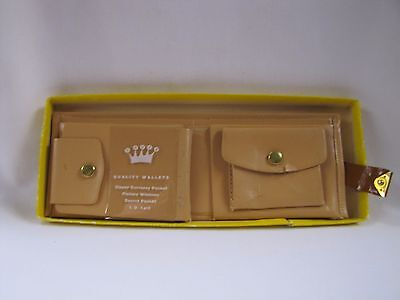 Vintage Wallet Beige Carter Teen Queen Wallet w Decoration in Box NOS 1950s