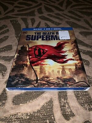 The Death of Superman Blu-ray + DVD + Digital With Slipcover