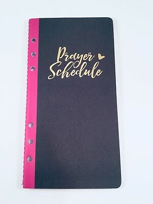 "Bible Journaling 80 Page Journal Insert ""Prayer Schedule"" Planner Travelers Note"