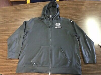 Top NIKE GREEN BAY Packers Therma FIT PO Sideline Sweatshirt Hoodie Size  for cheap