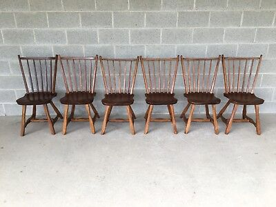 Hunt Country Furniture Set Of 6 Birdcage Dining Chairs/Windsor Chairs