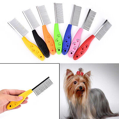 Trimmer Grooming Comb Brush Comb Rake Hair Shedding Kill Flea For Pet Cat Dog BE