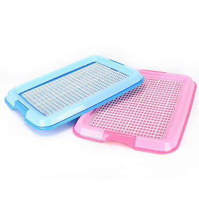 Indoor Puppy Dog Pet House Potty Training Pee Pad Mat Tray Toilet Odorless BE
